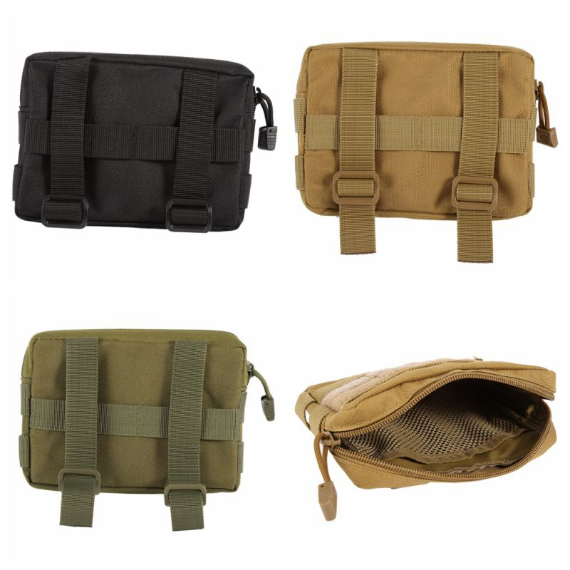 Tactical Pouch 600D Nylon Military Modular MOLLE Small Utility Pouch EDC Bag Waterproof Mini Bagged Pouch