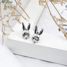 Cute gótico cruz lebre coelhos estilo animal jóias orelha do parafuso prisioneiro do vintage brinco punk liga brincos para mulheres jóias de festa