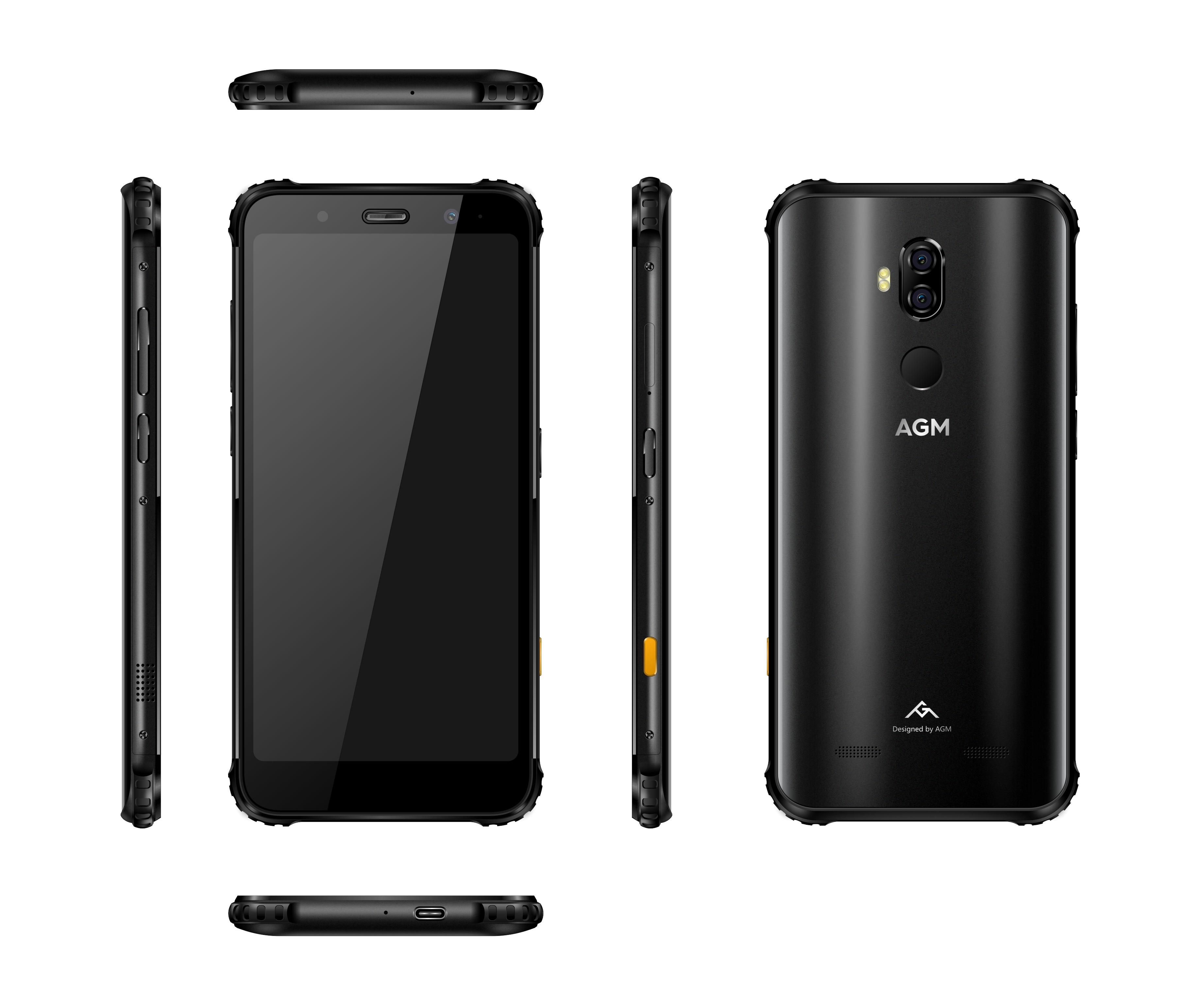 Téléphone robuste AGM X3 jbl-cobaguage 5.99 ''4G Smartphone 8G + 128G SDM845 Android 8.1 IP68 étanche téléphone portable double boîtier haut-parleur NFC