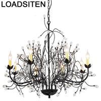 Işıklar ve Aydınlatma'ten Kolye ışıkları'de Kristal Lampara De Techo Colgante Moderna Para Comedor Deco Maison süspansiyon armatür Suspendu Lampen Modern asılı lamba