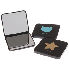 Makeup Mirrors Cosmetic Compact-Pocket Double-Sided-Mirror Hand Foldable Random-Color