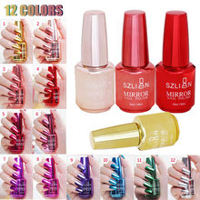 Hot 12 Colors Mirror Nail Polish Magic Effect Chrome Art Varnish Exquisite 18ml Dropshipping