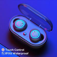 Bluetooth Earphone 5.0 TWS Wireless Stereo HiFi Earphones Sports Earbuds with Ch