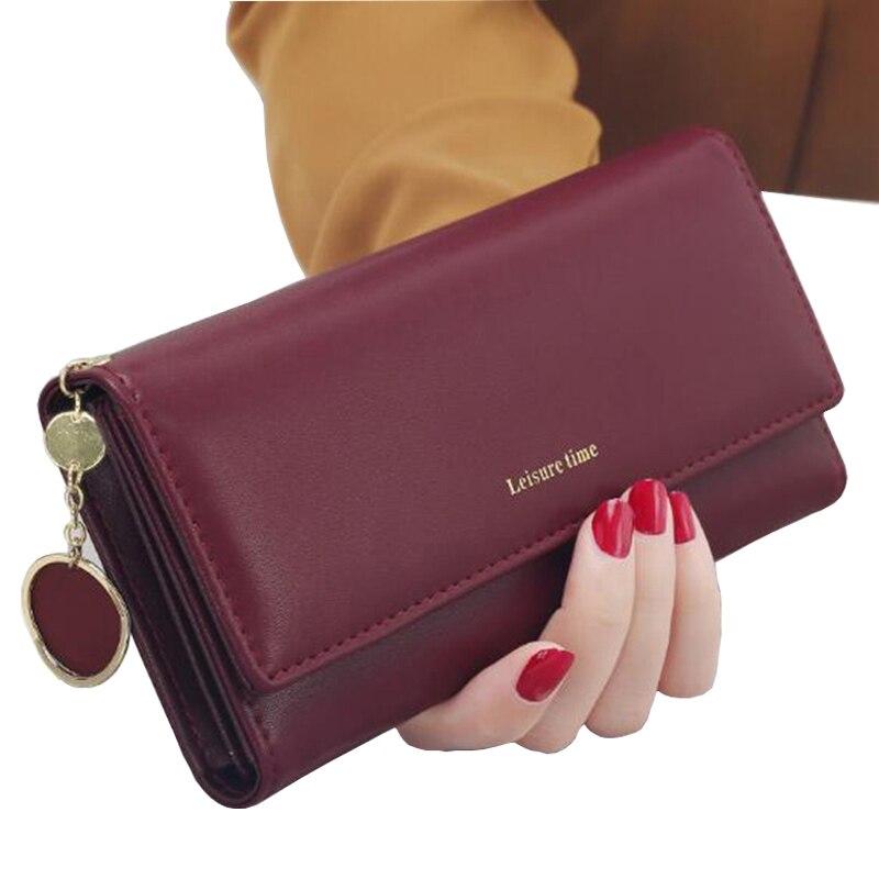 Ladies' Long-sleeved Wallet Fashion Tassel Zipper Trend Heart-shaped Pendant Lychee Multi-functional Student Wallet