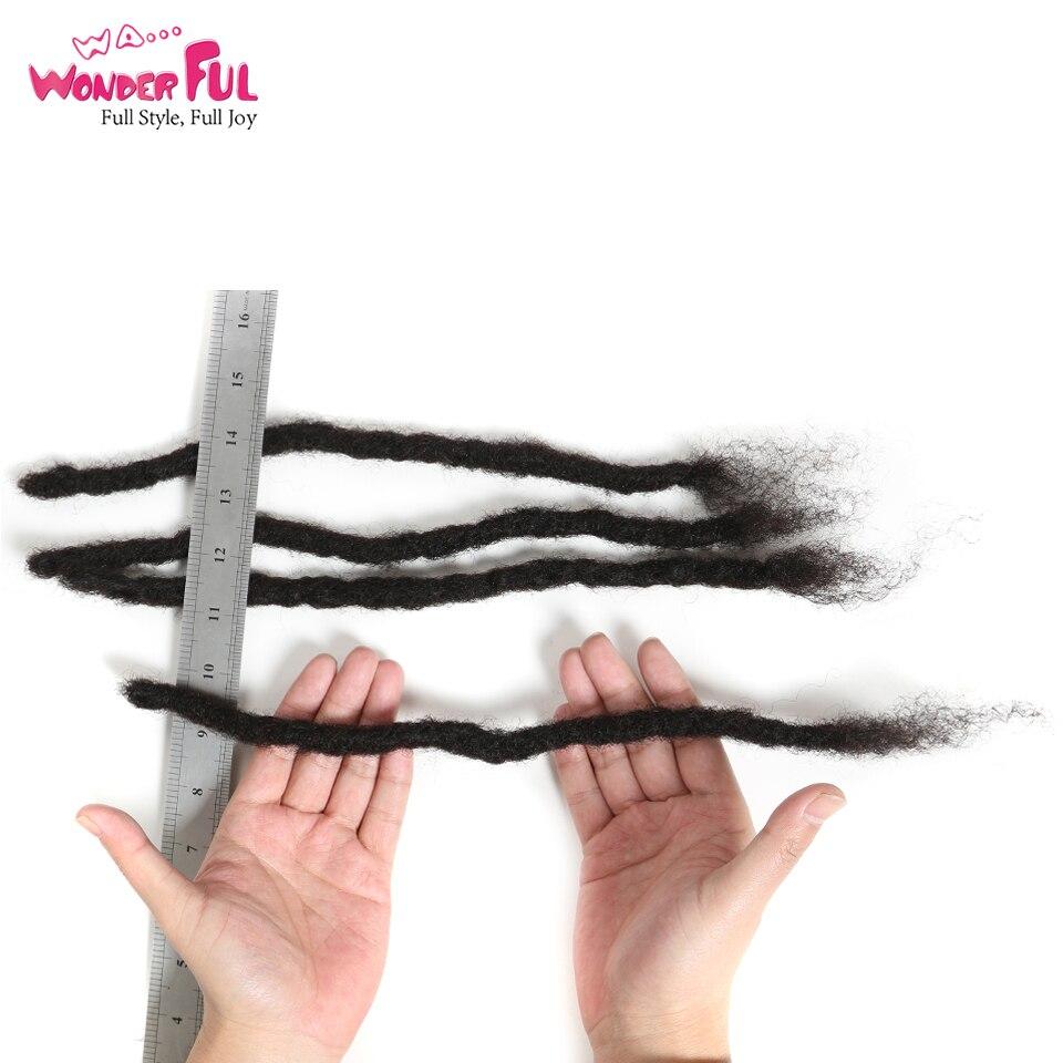 Afro crépus bouclés Dreadlocks Crochet tresses 100% cheveux humains Jumbo redoute coiffure fait à la main Dreadlocks tressage cheveux