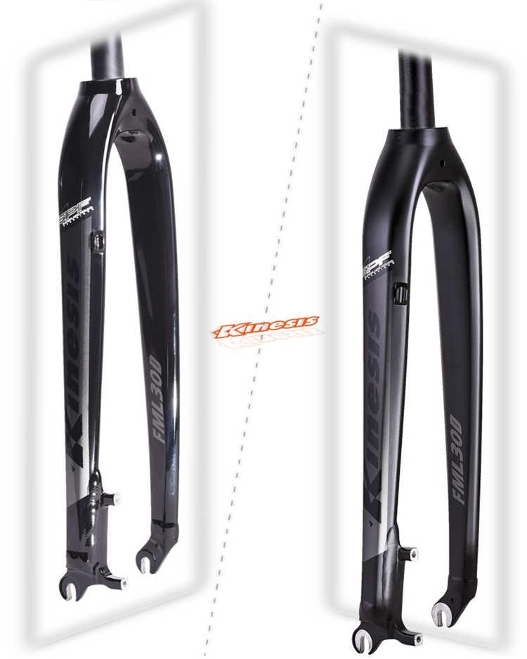 "Disc brake carbon fiber bike fork 26inch 27.5er 29/"" 1-1//8/"" for Mountain bicycle"