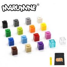 Marumine 1 x 1 Building Bricks 500 PCS/Lot City Part 13 Colors 3005 DIY Educational Blocks Construction AccessoriesToys For Kids