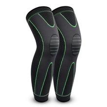 2pcs Elastic Leg Compression Sleeves Long Knee Braces Support Protector Calf Leg Warmer Sports Kneepads Legwarmer for Men Women