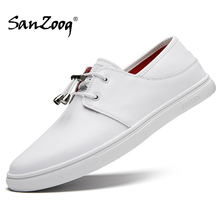 White Men Shoes Slip On Genuine Leather Casual Mocassin Homme Autumn Moccasins Men Mocasines Loafers eofk brand autumn women loafers moccasin homme casual suede leather shoes moccasins slip on woman shoes mocasines