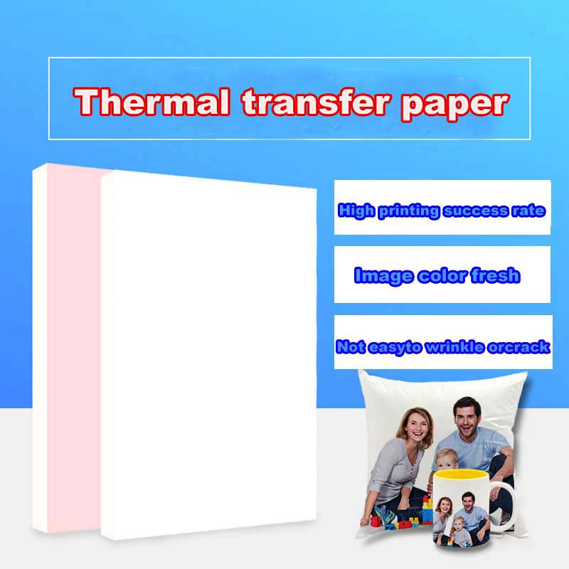 100 Sheets A4 A3 Sublimation Heat Transfer Paper For Polyester Cotton T-Shirt Cushion Fabrics Cloth Phone Case Printing Design