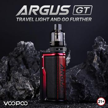 Original VOOPOO Argus GT Mods 160W TC Vape Mod Kit 4.5ml PNP Pod Tank fit 2pcs 18650 Battery Military Packaging E-Cigarette Vape original ehpro 2 in 1 fusion 150w tc kit max 150w w fusion mod