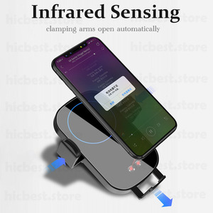 Image 4 - Wireless Car Charger Phone Holder for iPhone Samsung Car Wireless Charging Charger for iPhone 11 Pro X XR XS 8 Samsung S8 S9 S10