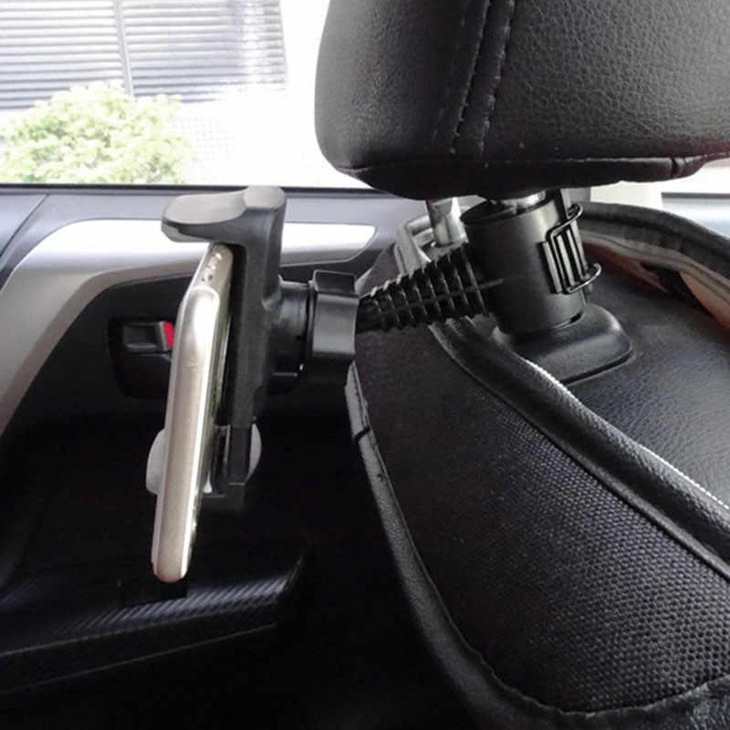 Suporte de telefone para banco traseiro, suporte para celular com rotação de 360 graus, acessórios para automóveis