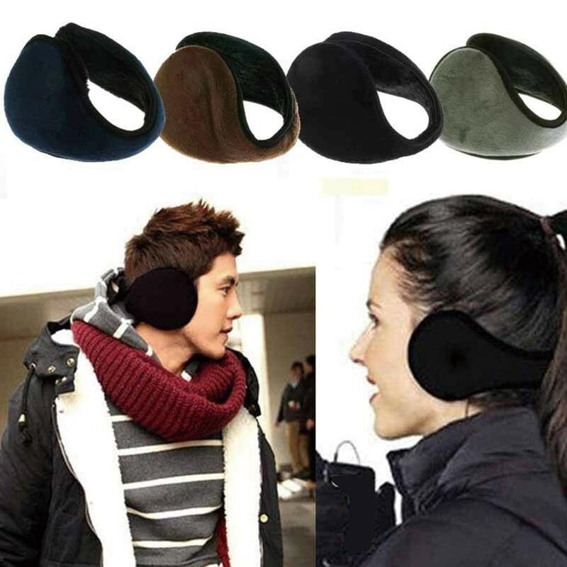 Winter Unisex Earmuff Warm Fur Ear Muff Wrap Band Ear Warmer Earlap Gift Ear Cover Solid Color Ladies Earmuffs