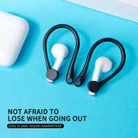 Gancho de oreja suave anticaída para Airpods, auricular inalámbrico por Bluetooth, soporte de protección antipérdida para Airpods, gancho de oreja