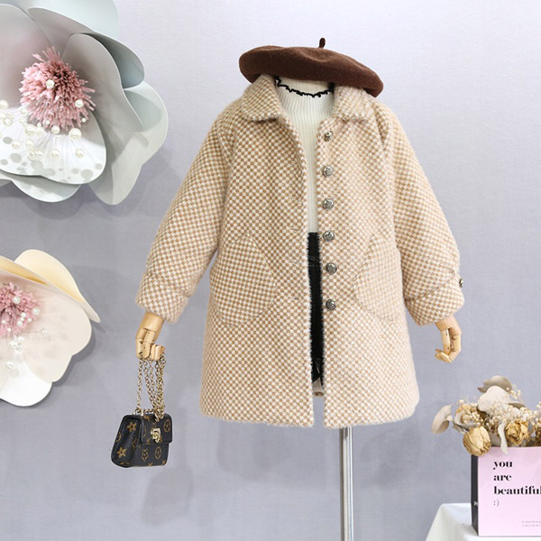 Girl  Wool Cotton Coat Autumn And Winter