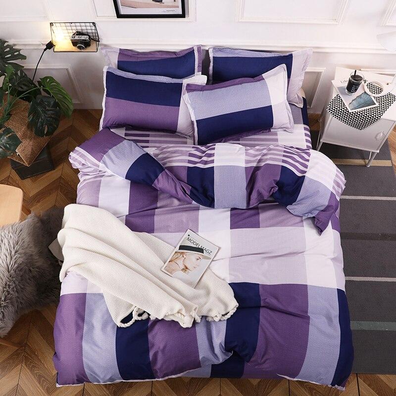 Домашний текстиль комплект постельного белья Постельное белье включает Пододеяльник Простыня наволочка одеяло комплект постельного белья s постельное белье - Цвет: AS