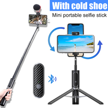 Ulanzi SK 02 Vertical Shooting Bluetooth Remote Control Selfie stick Wireless Vlog Selfie Tripod Monopod Extend Mic LED Light