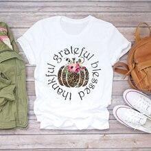 Женская футболка с рисунком тыквы и специй