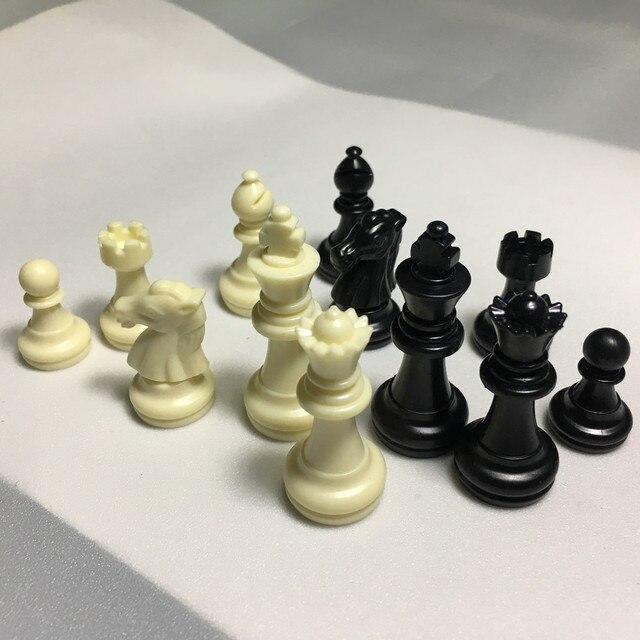 Ensemble de figurines d'échecs en plastique de 49mm de haut, environ 80 grammes, sans plateau 5