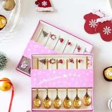 Рождество вечерние Кофе ложка Новый год 2021 merry christmas