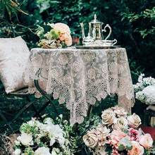Garden Tablecloth Round Cover Lace Square 6 Sizes, Table, Tea, Tablecloth, Kitchen, Christmas, Wedding Party, Home Decoration
