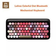 Youpin Lofree bezprzewodowa klawiatura mechaniczna Bluetooth Bloom wersja urocza kolorowa szminka klawiatura do gier z podświetleniem LED