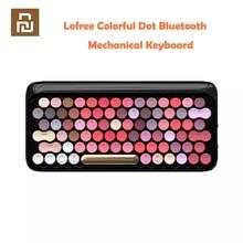 Youpin Lofree sans fil Bluetooth mécanique clavier Bloom Version charmant coloré rouge à lèvres clavier de jeu avec rétro éclairage LED
