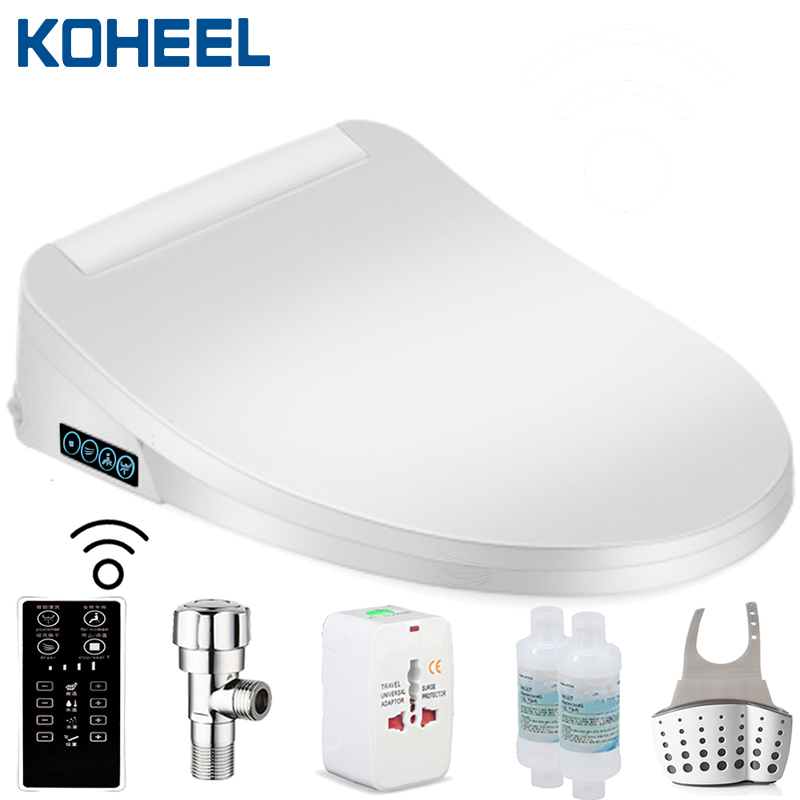Smart Toilet Seat Electric Bidet Cover Elongated Heating Sits Led Light Wc Intelligent Bidet Toilet Seats Toilet Seats Aliexpress