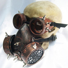 Steampunk lunettes masques à gaz lunettes Cosplay accessoires gothique Anti buée brume hommes et femmes masque