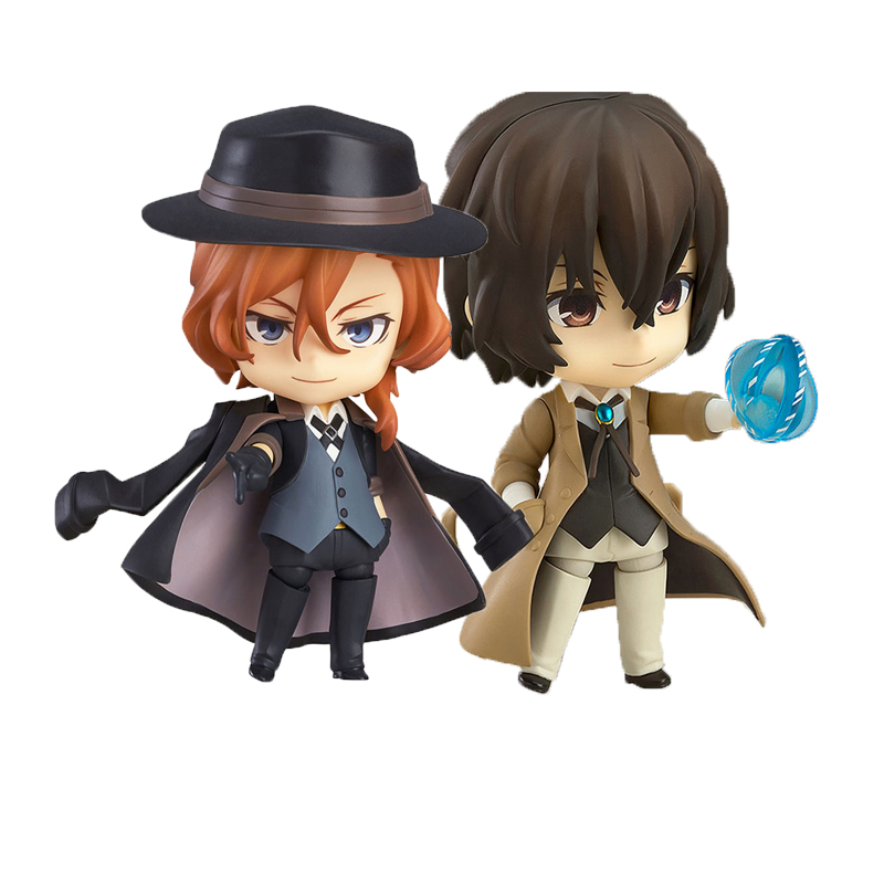Bungo Stray Dogs 657# Dazai Osamu Mini Scale Painted Figure 676# Nakahara Chuya PVC Action Figure Model Toy Doll Gift