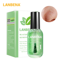 LANBENA Blackhead Remover Mask Serum Deep Cleaning Shrink Pores Purifying Acne Treatment Essence Smooth 100PCS Skin Care high quality black head remove shrink pores natural bamboo charcoal mask blackhead purifying peel off black face mask
