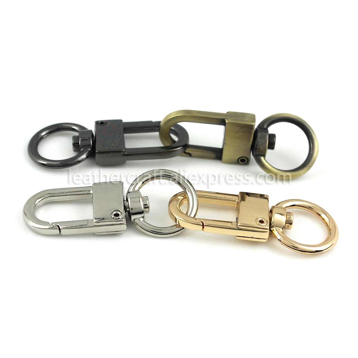 1pcs Solid Brass trigger Snap Hook Leather craft Bag Keychain buckle