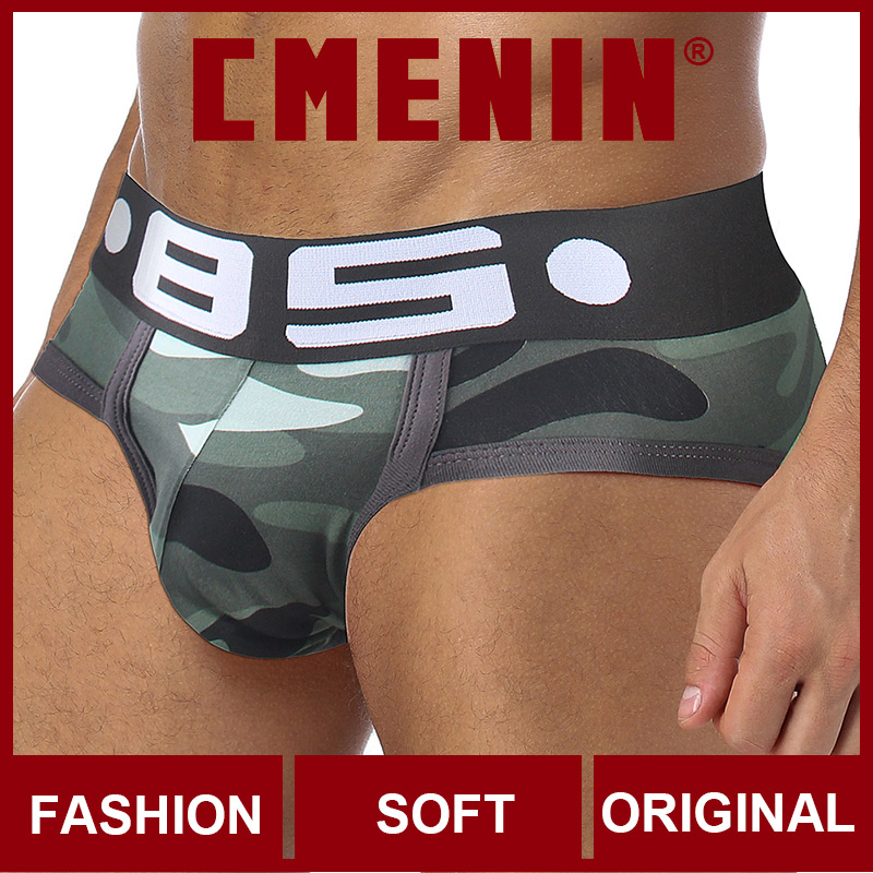 Free Shipping Sexy Underwear Men Jockstrap Briefs Bamboo Gay Men Bikini Underware Slip Cueca Male Panties Slips BS107
