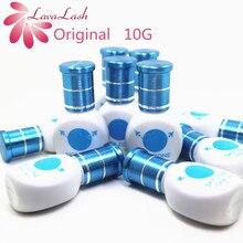 Pegamento para extensiones de pestañas, 10 botellas/lote, envío gratis, Original, zona Sky de Corea, 10ml, baja irritación, olor, sin humo