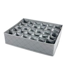 1 pc cabinet drawer organizer 30 compartments Bra lingerie underwear Tie Storage Boxes socks - gray(China)