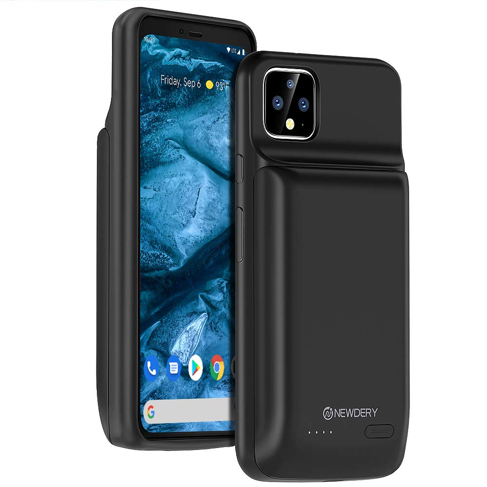 NEWDERY Battery Case for Google Pixel 4 XL 10000 mAh Portable Protective Charging Case Backup Charger Case for Pixel 4XL