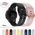 Ремешок 20/22 мм для Samsung Galaxy watch 3 Active 2/42 мм/41 мм/Gear S3/спортивный силиконовый браслет Смарт-часы huawei watch GT 2 band 46