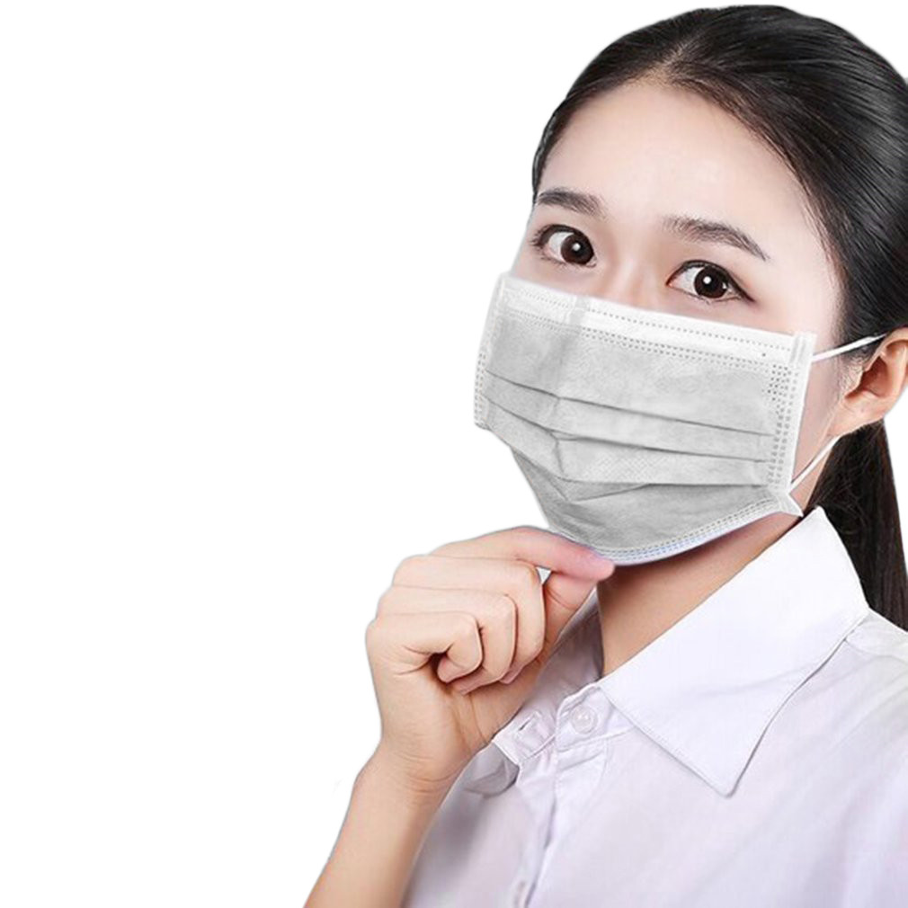 10pcs Non-woven Fabric Disposable Mouth Masks Kids Adult Filter Mask Anti-dust Masks Windproof Face Masks