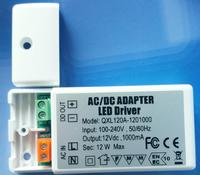 DHL 100 pieces 3 years SMT chips LED Driver 220 12V 1A LED Power Supply No Flicker 12W Light Transformers For Fan LED Light