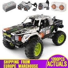 Coche técnico de MOC 3320 Compatible con 42099 retroceso de energía camión de bloques de construcción Baja conjunto de ladrillos juguetes niños regalo de Navidad