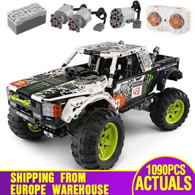 MOC 3320 voiture technique Compatible avec 42099 énergie recul Baja camion blocs de construction assemblage briques jouets enfants cadeau de noël