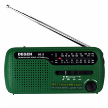 цена на DE13 FM AM SW Crank Dynamo Solar Power Emergency Radio Solar Emergency Radio World Receiver High Quality