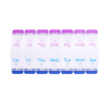 Pill Box Weekly 7 Days Pill Box Case Medicine Dispenser Pill Box Splitters Pill Storage Organizer Container with 14 Compartments 7 days weekly pill box black