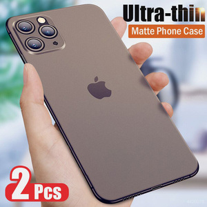 0.26mm Ultra Thin Original PP Case For iphone 11 Pro X XR XS Max Full Cover For iphone 6 6s 7 8 PLus Matte Shockproof Slim Case(China)