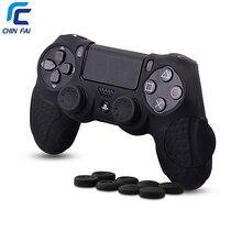Высокое качество чехол для PS4 с 8 шт. Stick Thumb ручки анти скольжения силиконовые сцепление чехол для Playstation 4 DualShock4 контроллер