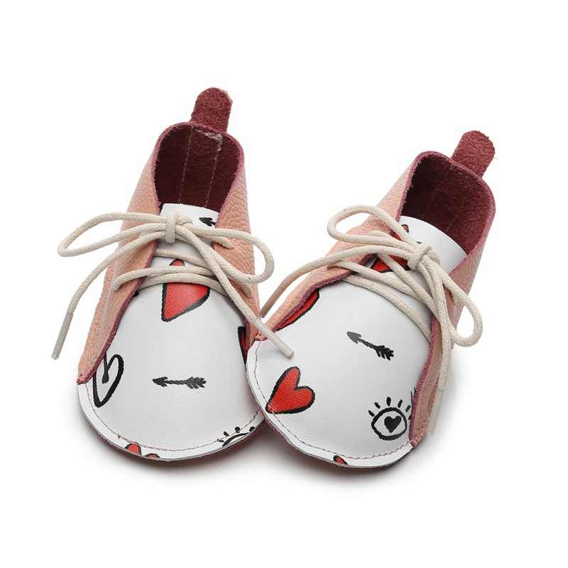 Infant Baby First Walkers New Born Vintage Soft Bottom Baby Shoes Non-Slip Newborn Girls Toddler Lace Soft Sole Shoes