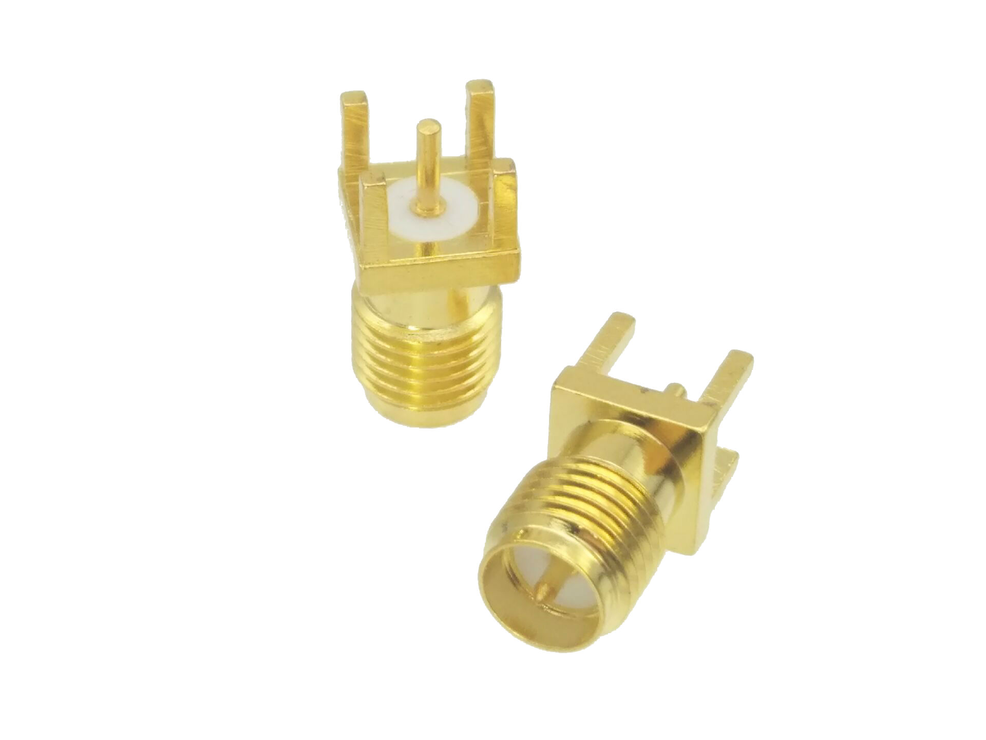 Connector RP.SMA RP-SMA Female Plug Solder PCB Mount Straight 5.08mm RF Coaxial
