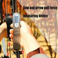 Escala de arco Digital eléctrica portátil con arco compuesto Escala de arco recurvo dispositivo de medición de fuerza de tracción escala de medición Universal Arco y flecha     -