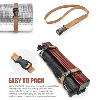 2 4 sztuk regulowany odkryty Camping piesze wycieczki przechowalnia ładunków pasek mocujący podróż bagaż klamra związany dokręcić pasek tanie i dobre opinie CN (pochodzenie) kieszonkowe narzędzia uniwersalne
